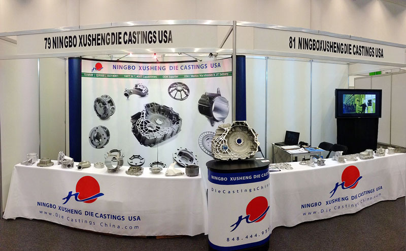 Ningbo Xusheng Die Castings USA Booth at the 2013 Automotive Meetings Queretaro